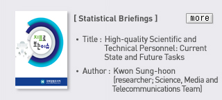 [Statistical Briefings] Title : High-quality Scientific and Technical Personnel : Current State and Future Tasks, Author : Kwon Sung-hoon (researcher;Science, Media and Telecommunications Teadm), more