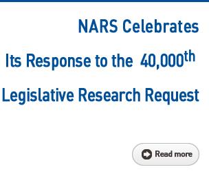 NARS Celebrates Its Response to the 40,000th Legislative Research Request Read more