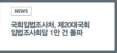 NEWS: 국회입법조사처, 제20대국회 입법조사회답 1만 건 돌파