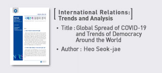 <International Relations: Trends and Analysis> Global Spread of COVID-19 and Trends of Democracy Around the World more